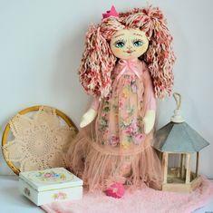 Lala ręcznie malowana - Ella - 50 cm  - księżniczka Harajuku, Princess Zelda, Dolls, Pink, Fictional Characters, Art, Baby Dolls, Art Background, Puppet