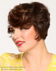 Short retro hairstyle with waves. http://www.hairfinder.com/hairstyles9/easy-hairstyle10.htm