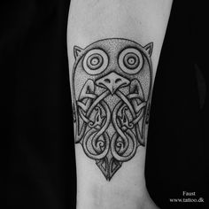 Nordic Tattoo: Nordic owl tattoo