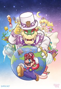Another Super Mario game, another fanart. Why do I have a feeling this one is gonna have a recurring hat theme? And oh, heeeeey everybody. Long time no fanart. Illustration done in Adobe Photoshop ...