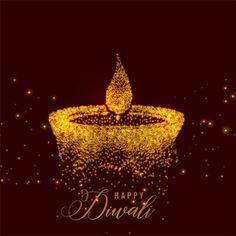 Creative diwali diya made with golden particles. Vector , Creative diwali diya made with golden particles. Diwali Greetings Images, Happy Diwali Wishes Images, Happy Diwali Wallpapers, Diwali Cards, Diwali Greeting Cards, Diwali Diya, Diwali 2018, Diwali Hindi, Diwali Deepavali