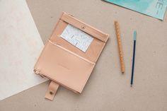 Brieftaschen - Pocket BIG / PEACH - Portemonnaie aus Leder - ein Designerstück von AlicjaGetkaLab bei DaWanda