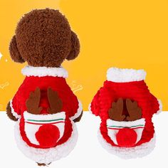 Puppy Hoodies Coat Winter Sweatshirt Warm Sweater Dog Outfits Jumpsuit Pajamas Tracksuit Sportswear Doggie Apparels Clothes (Navy,Medium) FunDiscount Pet Clothes for Dog Cat