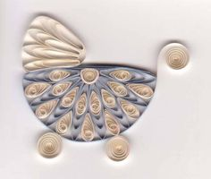 Baby carriage - Quilled Creations Quilling Gallery