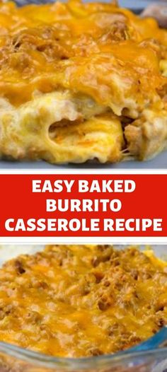 Mexican Food Recipes, Beef Recipes, Cooking Recipes, Mexican Dishes, Red Beans And Rice Recipe Crockpot, Creamy Burrito Casserole, Dinner Dishes, Main Dishes, Tortellini Recipes