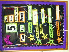 New year bulletin board - change to school related