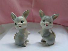 Vintage Enesco Japanese Bunny Salt and Pepper Shakers