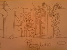 This is a image that I drew, which is a crossover of my little pony and doctor who  I got this Idea from looking at the images that  Karen Hallion has done  #art #drawing #mylittlepony #doctorwho #style #Idea #KarenHallion #cartoon #geek #crosscover