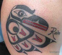 Haida Raven Tattoo