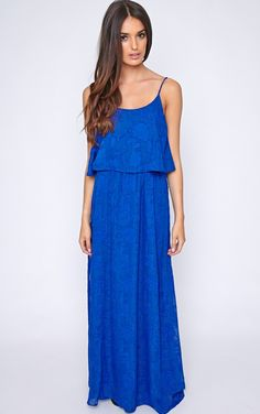 The Cosima Cobalt Frill Front Maxi Dress. Head online and shop this season's range of dresses at PrettyLittleThing. Blue Evening Dresses, Summer Dresses, Blue Cocktail Dress, Cocktail Dresses, Daily Dress, Bridesmaid Dresses, Maxi Dresses, Luxury Fashion, Fashion Trends