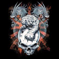 dragon and tiger tattoo - Google Search