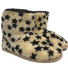 JEMIDI Damen Hausschuhe Hüttenstiefel Sterne gefüttert Schuhe Stiefel Hausschuh Haus (37, Beige mit Sternen Stiefel) - http://on-line-kaufen.de/jemidi/37-eu-jemidi-damen-hausschuhe-huettenstiefel