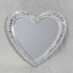 Buy Mosaic Crackle Glass Heart Wall Mirror from our French Mirrors range - @ Homesdirect 365 Mirror Mosaic, Diy Mirror, Mosaic Wall, Mosaic Glass, Wall Mirror, Mirrors, Heart Mirror, Heart Wall, Mirrored Furniture
