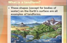 A 75 slide Power Point on Landforms-Primary and Secondary from Mrs. Mc's Shop on TeachersNotebook.com -  (75 pages)  - A 75 slide Power Point defining and describing both primary and secondary landforms. Many questions and diagrams with colorful pictures and illustrations are included to inspire discussion and help students understand the material. This activity was desig