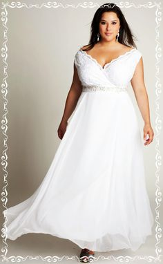 Textured Bodice with Smooth Fabric for Pear Shaped  | WHATIS THE BEST FABRICS THAT FLATTER YOUR FIGURE on http://www.weddingyuki.com/2015/03/plus-sized-wedding-dresses-best-fabrics.html