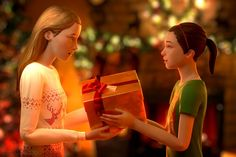 [NO SPOILERS] [Fan Art] Max and Chloe Christmas Morning. : lifeisstrange
