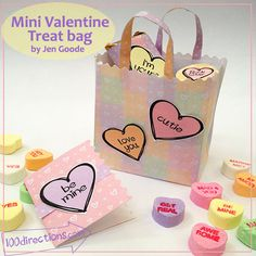 printable project - Mini Valentine's Day candy gift bag
