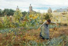 Lionel Percy Smythe (English artist and etcher) 1839 - 1918 The Garden, Chateau Honvault, 1898