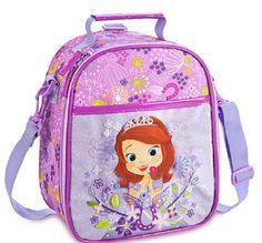Disney Store Sofia Lunch Box Bag Tote School Purple 2015 New #TheDisneyStore