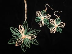 Paper Quilled Necklace with matching earrings. $25.00, via Etsy.
