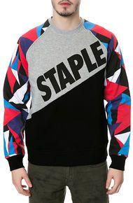 Staple The Natural Block Crewneck Sweatshirt in Black