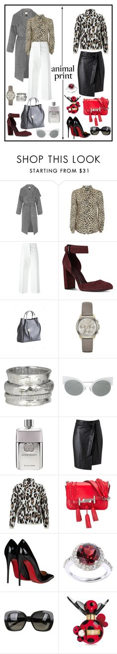 """ANIMAL PRINT!!!"" by kskafida ❤ liked on Polyvore featuring By Malene Birger, Topshop, Marni, Nine West, DKNY, MeditationRings, Fendi, Gucci, Miss Selfridge and New Look"