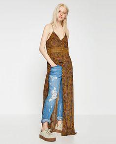 CONTRAST ROBE DRESS-Maxi-DRESSES-WOMAN | ZARA Canada