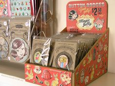 New display box for Magic Jelly button badges!