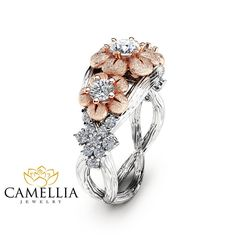 Love is in the details! And this unique three stone engagement ring is a brilliant choice to slip on your beloveds finger. It features a three