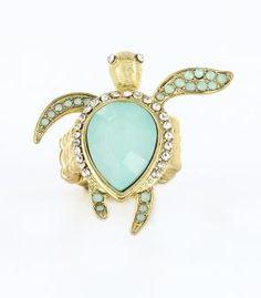Rings turqouise turtle