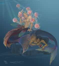 Mermaid Law and Doflamingo