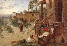 IL SABATO DEL VILLAGGIO - Eugenio Zampighi (1859-1944) | by Occhio Fantastico