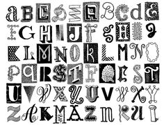 different lettering styles alphabet Lettering Styles Alphabet, Doodle Lettering, Creative Lettering, Typography Letters, Lettering Design, Font Art, Graffiti Lettering, Childrens Alphabet, Alphabet Book