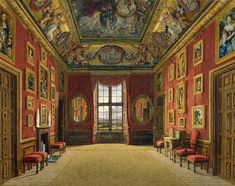 Windsor Castle: The King's Closet, 1816/ Charles Wild