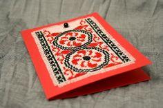 Felicitare handmade cu motive tradiționale românești