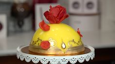 Indulge in This Magical Cake Inspired by Disney's Beauty and the Beast!: If you're just as excited for Disney's new Beauty and the Beast as we are, then be prepared for your jaw to drop at this enchantingly magical cake that Amorette's Patisserie at Disney World has whipped up in time for the premiere.