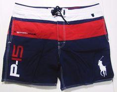 Polo Ralph Lauren big pony men's swimwear size 42 NEW  #PoloRalphLauren #BoardShorts