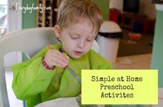 Three simple and fun preschool activities that teach your child about numbers and letters.