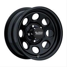 "Black Rock Series 997 Type 8 Matte Black Wheel 17""x9"" 8x6.5"" BC Set of 4"