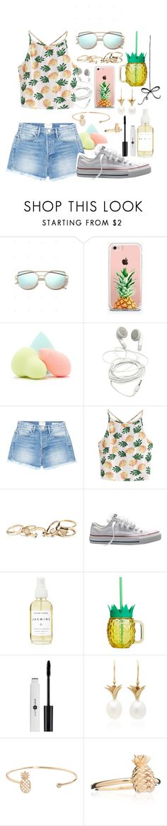 """""""pineapple"""" by cecilia-ribeiro ❤ liked on Polyvore featuring The Casery, Forever 21, Frame, WithChic, GUESS, Converse, A Weathered Penny, Annette Ferdinandsen, Humble Chic and Rachel Jackson"""