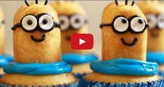 Cupcakes are always deliciously irresistible, but now with this great video from Rosanna Pansino, we fear these Minion cupcakes will be despicably irresistible.