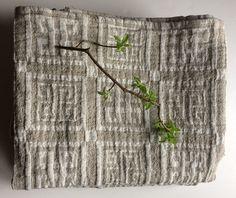 Linen Bath Towel, Spa Towel, Beach Towel, Sauna Towel, Pattern Towel, Checkered Towel, Soft Linen Fabric Towel, Beige Towel, Light Towel by Linenstars on Etsy