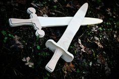 A Pair of Handmade Wooden Swords by WoodenWaldorftoys on Etsy, $25.00