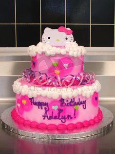 Hello Kitty birthday cake by ~ayarel on deviantART
