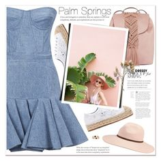 """""""Palm Springs,  California"""" by soygabbie ❤ liked on Polyvore featuring T-shirt & Jeans, Balmain, Chiara Ferragni, Billabong and Topshop"""