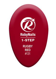 RobyNails 1-Step Gel Polish Rugby Red: deep red for an elegant and sporty woman