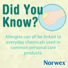 Did you know your body's largest organ is your skin? It defends your body from toxins. When we use conventional soaps and personal care products, we're exposing our defense system to the very pollutants it's trying to protect us from. Allergies can all be linked to everyday chemicals used in common personal care products. To learn more: http://www.webmd.com/allergies/guide/chemical-allergies