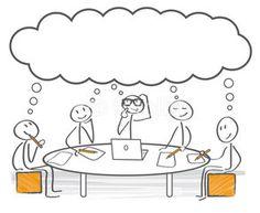 Brainstorming - meeting, nadenken, gezamelijk beeld vormen