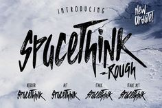 SPACETHINK Typeface - NEW UPDATE! by giemons on @creativemarket