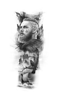 Ragnar Lothbrok, Ragnar Vikings, Viking Tattoo Sleeve, Egyptian Tattoo Sleeve, Viking Tattoos, Armband Tattoo Design, Viking Tattoo Design, Tattoo Designs, Slavic Tattoo